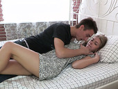 First Anal Date With Gorgeous Teen Model On The Bed
