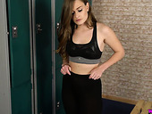 Obsessed With Sex Babe Honour May Enjoys Toying Her Pussy In The Locker Room