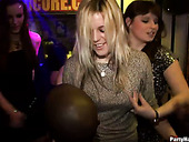 Horny Dudes Maul Intensively Frisky Russian Chics During Dance