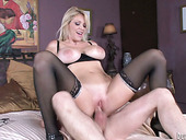 Sultry Busty Mommy Charlee Chase Rides Huge Young Cock