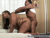 Black BBW Tattooed Whore Diamond Dior Takes In Hard In Her Soaking Twat