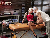 Lolly Ink Fucks With Tattoo Master In The Tattoo Saloon