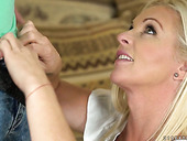 Blond Mommy Franny Seduces Nerdy Friend Of Her Step Son