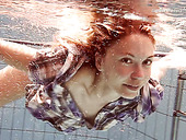 Adorable Teen Iva Brizgina Shows Striptease Under The Water