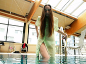 Slutty Chick Nina Mohnatka Shows Striptease Under The Water
