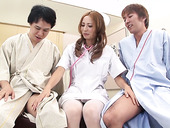Two Clients Fuck Naughty Asian Chick Shiori Ayase And Makes Her Slit Creampied