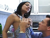 Fresh Housewife Is Getting Her Pussy Licked And Fucked In The Kicthen