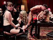 Sex-appeal Bitch Veruca James Is Punished In Hardcore Group Sex Scene