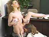 Black And Light Haired Vintage Nymphos Fuck Each Other's Slits With Toys