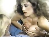 Dirty-minded Vintage Brunette Whore Jerks Off And Sucks Hot Prick