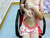 Lean Asian Webcam Girl Shows Off Her Small Tits With Pleasure