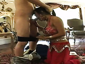 Too Voracious For Cum Indian Clown Face Priya Anjeli Rai Kneels Down To Suck A Dick