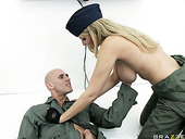 Military Pilot Julia Ann Is Sucking Her Partner's Hard Cock