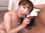 Japanese Read Haired Babe Mami Asakura Gives Impressive Blowjob