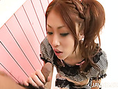 Doll Like Japanese Babe Saki Kozakura Gives A Head