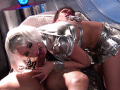 A Whore On A Space Ship Kagney Linn Karter Pleases Two Cock At A Time