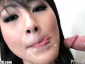 Amazing Korean Brunette Goes Nuts While Sucking A Delicious Lollicock For Sperm