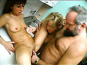 Horny Bearded Dude Is Poking Mature Sluts Rita And Silvia In A Missionary Position