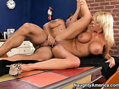 Bootylicious Mature Misty Vonage Gets Her Cunt Poked In Sideways Pose