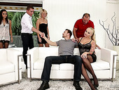Sizzling Blonde Katy Rose Takes Part In Crazy Group Sex Scene