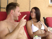 Hot And Pretty Brunette Adriana Chechik Gets Her Fancy Licked And Tickled