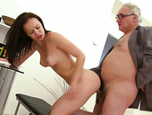 Young Brunette Anastasia Having Sex Fun With Old Teacher