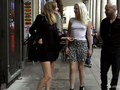 Slender Blonde Liz Rainbow Is Tied Up And Punished In Public