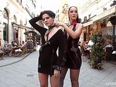 Strict Mistress In Latex Bella Beretta Is Fucked In Public Place