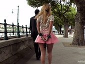 Leggy Babe In Short Skirt Isabella Clark Is Punished And Fucked In Public
