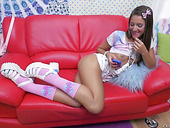 Sex-hungry Nextdoor Chick Tara Ashley Takes Messy Facial After A Hardcore Pounding