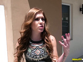 Picked Up Red Haired Chick Olivia Lee Is Fucked By Stranger After Showing Her Ass In The Car
