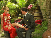 Passionate And Romantic Sex With Sexy Blonde Syvette In The Garden