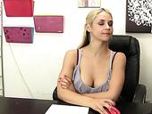 Salacious Blonde Sara Vandella Gives Rimjob And Takes Cumshot Shower After Rough Sex