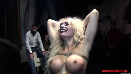 Tied Bitch At Kinky Show