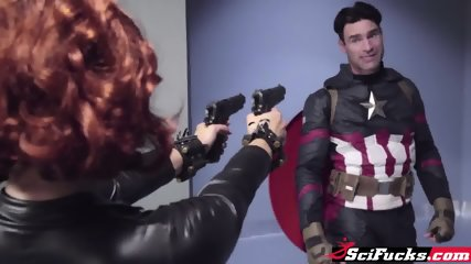 A Porn Parody Of Captain America And Black Widow