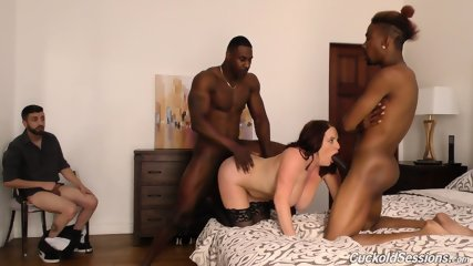 Two Black Guys Fuck His Wife