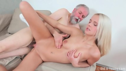 Charming Teen Rides Old Guy