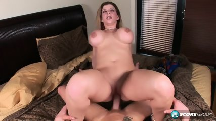 Busty Lady With Cum On Ass