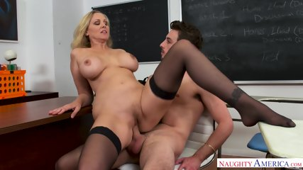 Busty Teacher With Sexy Stockings