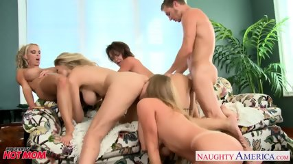 Moms Darla Crane, Deauxma, Holly Halston And Julia Ann Sharing Cock