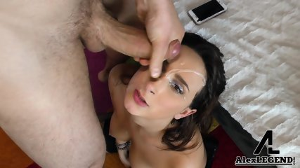Sperm On Her Sexy Face