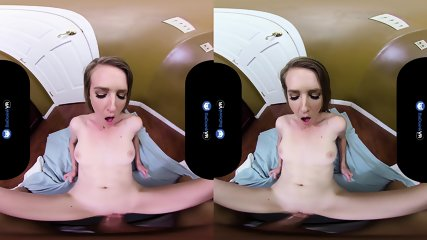 Stunning Blonde Babe Rides Cock