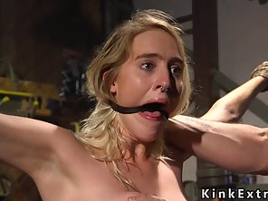 Blonde Slave Gets Threesome Slave Training