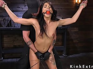Tied Up Slave Gets Water Bondage Torment