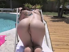 Round Ass Mandy Muse Fucked By The Pool