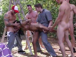 Ebony Chick Banged By Horny White Men