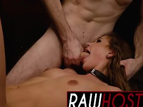 Mouth Gagging Babes Getting Rammed By Master Throbbing Dick In Three Ways