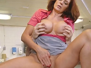 Big Boobs MILF Waitress Andy James Fucked In The Diner