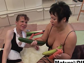 Big Tits Babes And Friend Enjoy Masturbate With Vegetables Indoors