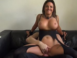 Big Boobs Brunette Takes Off Clothes Then Gets Pounded Hard